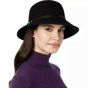 NWT Nine West Wool Felt Trench Cloche Hat Nailhead